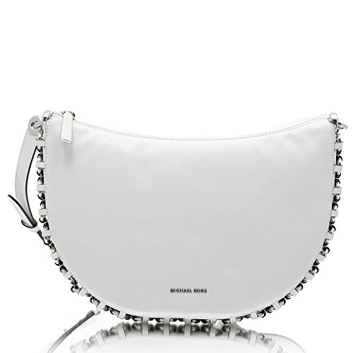 Michael Kors, Borsa a tracolla donna bianco Optic White
