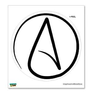 Amazon Com Graphics And More Atheism Symbol Window