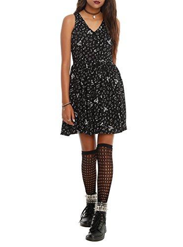 Black Music Note Dress Size : Large