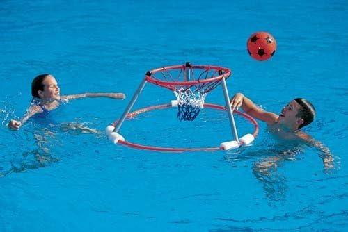 Nueva piscina divertido juego libre marco flotante y red de agua ...