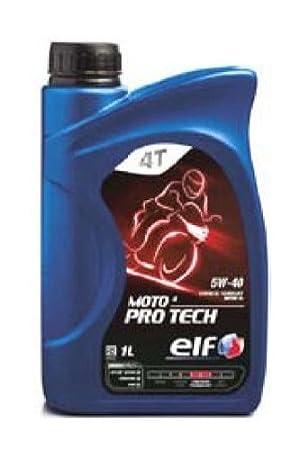 1 litro de aceite ELF MOTO 4 PRO TECH 5W-40, 100% fibra ...