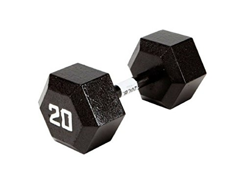 Marcy Classic Ecoweight Zero Emission Hex Dumbbell, Sold Individually (20, Large)