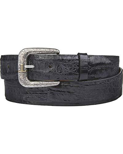 Lucchese Men's Black Hornback Caiman Leather Belt (W9321) - Size ()