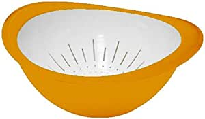 Omada Trendy Bowl and Colander Set, Yellow, Small