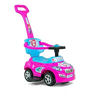 Milly Mally 5901761124637 Milly Mally Ride on 3-in-1 Happy Pink-Blue Vehicle, Pink