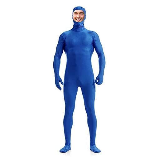 DreamHigh Men's Women's Polyester Spandex Full Body Costume Zentai Suit-Open Face