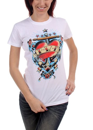 Parkway Drive Tattoo Heart Juniors T-Shirt L White