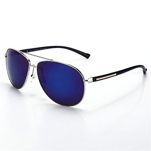 marco 3003 Conducir Gold Silver Blue Luz Los Gafas Sol Film Komny Hombres Polarizada Frame Coche Oro De q08xv