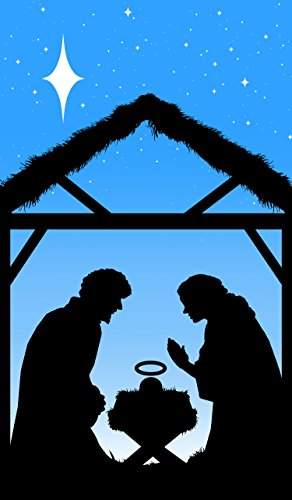 Window Scenes For Christmas - WOWindow Posters Manger Silhouette Christmas Jesus Window Decoration 34.5