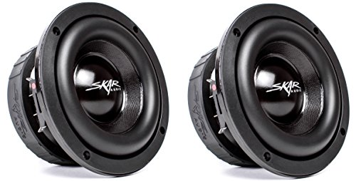 (2) Skar Audio EVL-65 D2 6.5″ 400 Watt Max Power Dual 2 Ohm Car Subwoofer