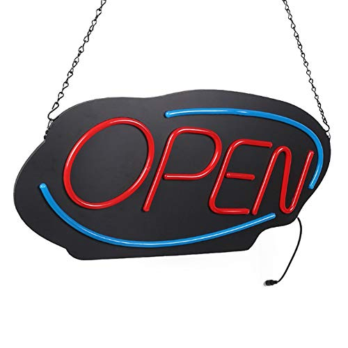 MOCHEN Open LED Neon Lights, Shop Window Display LED Open Sign Lighting Flashing Sign Hanging Flexible Neon Light Super Bright, Suitable for Leisure and Entertainment Venues