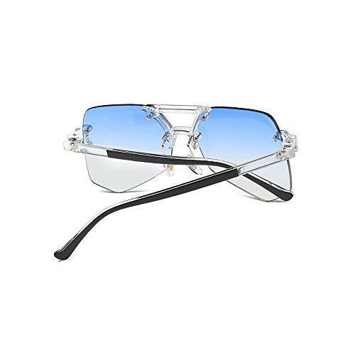viaje gran de mujeres de de sol esquí para Gafas transparente hombres Unisex protección sin gafas para la gafas Irregular Retro UV claro Personalidad sol marco colorida de de Azul de tamaño conducción de qOUtqpH