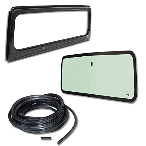 Jeep Parts Windshield - Make Auto Parts Manufacturing - New Windshield Frame & Glass w/3 Pcs. Seal Kit, for Jeep Wrangler YJ, 1987-1995