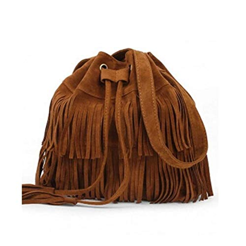 Retro Faux Suede Fringe Women Bag Messenger Bags Handbag Tassel Shoulder Handbags Crossbody Gift