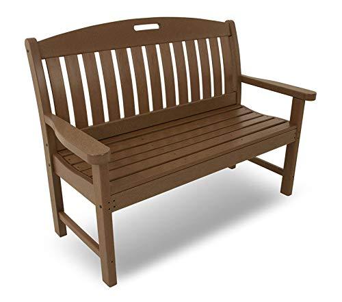 "Pоlywооd Patio Outdoor Garden Premium Nautical 48"" Bench, Teak"