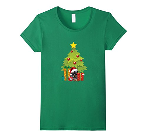 [Womens Dachshund Lover Costume. Christmas Gift From Dad For Son. Small Kelly Green] (Dachshund Christmas Costumes)