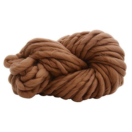 Chunky Crocheting Knitting Yarn - Soft Bulky Roving Yarn for DIY Weaving Crocheting (256E)