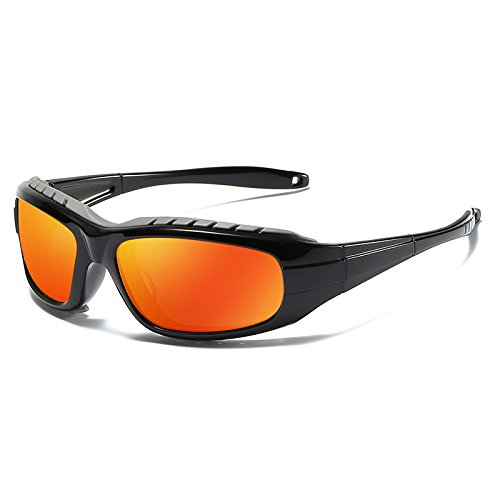 Outdoor Sol Conductor Sol Black Decoración Polarized Gafas De Sol Conducción Regalos Hombres Windbreaker Glasses De LLZTYJ Black Wind Riding Uv Gun De Sports Gafas Los Gafas Hombres Cumpleaños piece red orange De Box Gafas box A6qqExvwI