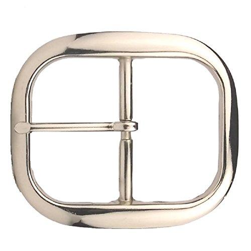 Tandy Leathercraft Nickel Econo Center Bar Belt Buckle 1-1/2