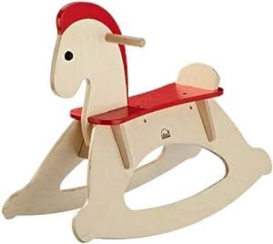Educo 821751 Rock and Ride - Caballo balancín de madera [importado de Alemania]