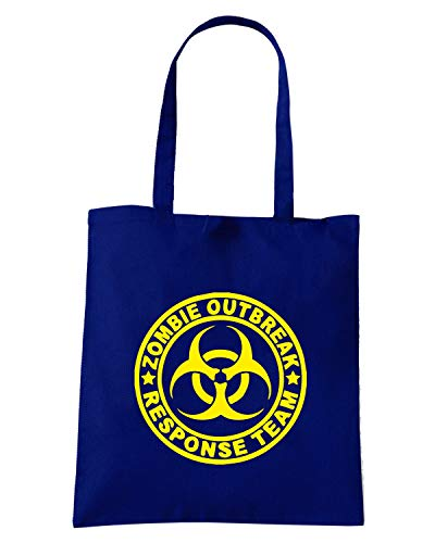 Navy ZOMBIE Shirt Blu Shopper TZOM0027 RESPONSE Borsa OUTBREAK TEAM Speed UxvAwqRIq