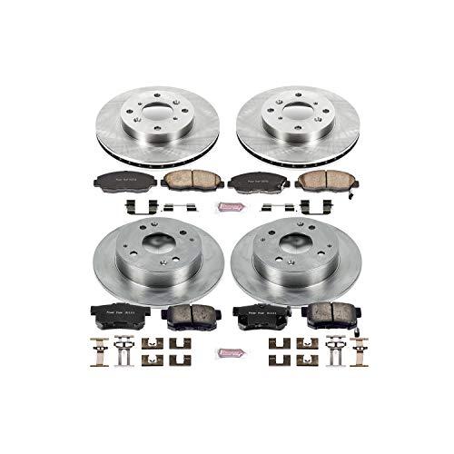 Power Stop KOE1240 Front and Rear Brake Kit- Stock Replacement Brake Rotors and Ceramic Brake Pads