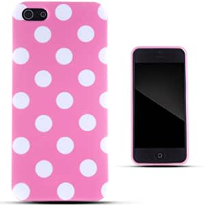 Zooky® Pink TPU polka dot Case / Cover / Shell for iPhone 5/5S