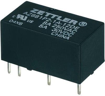 Zettler Electronics AZ881-2A-6DEA Printrelais 6 V//DC 5 A 2 Schlie/ßer 1 St.