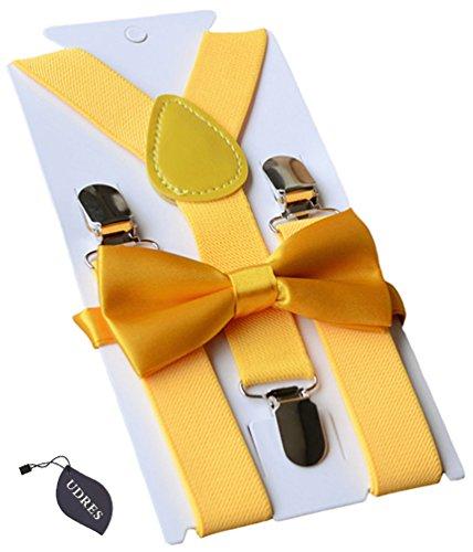 udres-unisex-kid-boys-girls-adjustable-bow-tie-suspender-sets-one-size-yellow