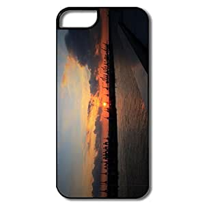 IPhone 5S Cover, Sun Set Cases For IPhone 5/5S - White/black Hard Plastic