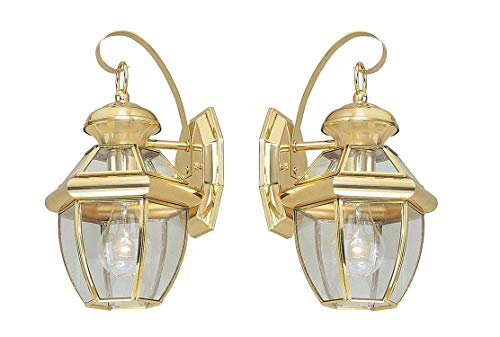 Outdoor Lighting Fixtures Polished Brass in US - 6