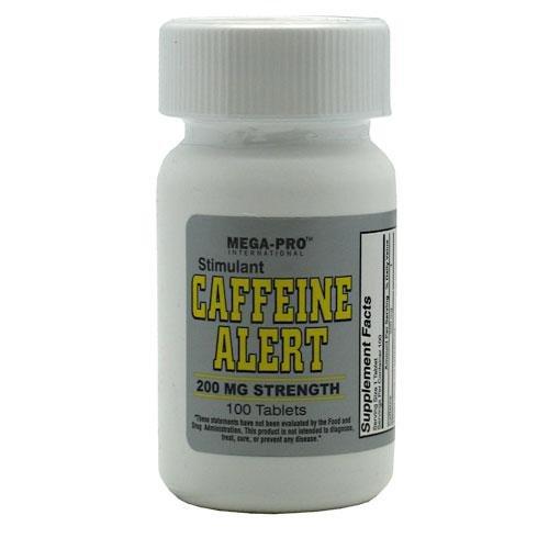 Caféine 200mg Alerte - Energy & Endurance, 100 comprimés, (Mega-Pro)