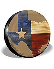 Colorado Flag Mountain Snowboard Tire Cover Waterproof Dust-Proof Universal Spare Wheel Fit for Trailer RV SUV and Many Vehicle 14 15 16 17