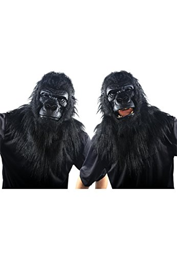 Animated Animal Gorilla Plastic Face -