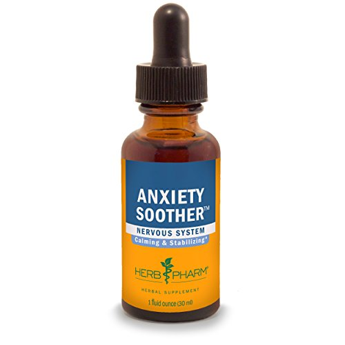 Herb Pharm Anxiety Soother Herbal Formula with Kava For Nervous System Support - 1 Ounce