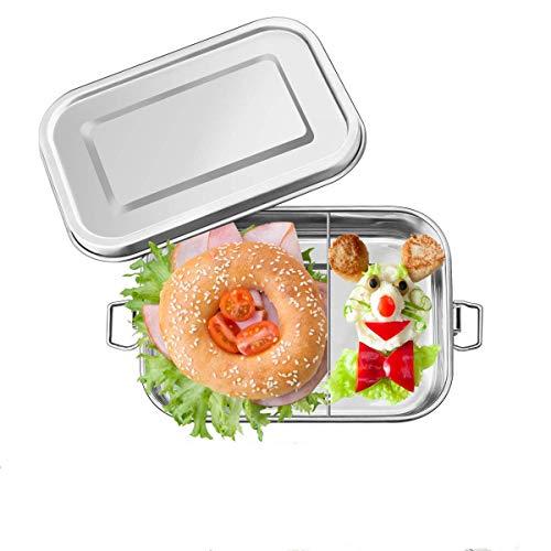 Charminer Brotdose aus Edelstahl,Bento Box Metall Dichte Brotdose Lunchbox,Umweltfreundliche ohne Plastik&BPA,für…