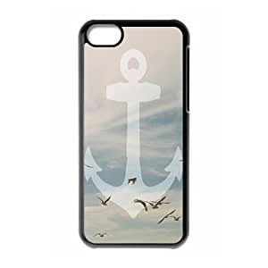 Sailor Anchor Use Your Own Image Phone Case for Iphone 5C,customized case cover ygtg574898