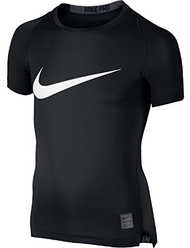NIKE Kids Boy's Cool HBR Compression S/S Youth (Little Kids/Big Kids) Black/Anthracite/White T-Shirt MD (10-12 Big Kids)