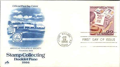 American Philatelic Society Founded 1886 Stamp Collecting Booklet Pane 1986 Original First Day Cover