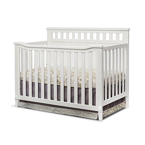 Sorelle Madrid 4-in-1 Convertible Crib, White