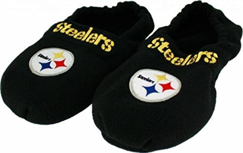 Pittsburgh Steelers NFL Mens Hot Footie Therapeutic Slippers Adult Sizes (L) (Slippers Pittsburgh Steelers Nfl)