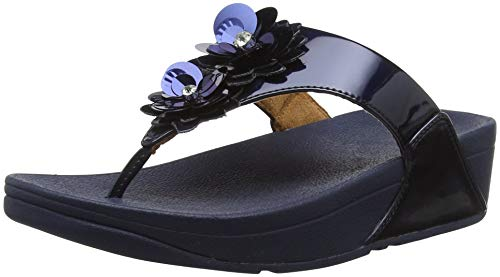 Blue Fitflop Lulu 632 Open Meteor Toe Flower Sandals Blue Women's nPCWPqwRY