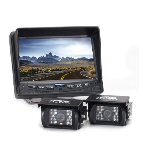 Rear View Safety Rvs 770614 Backup Camera System  2 Camera  With 7 Inch Monitor For Rvs  Trucks  Buses And Commercial Vehicles