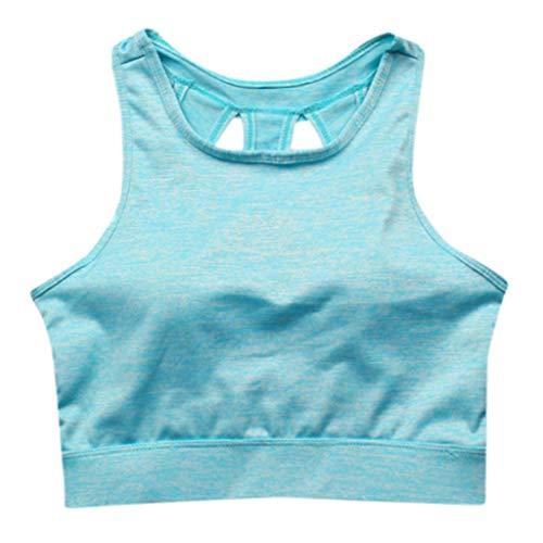 Avec Gilet Soutien gorge Le Poitrine Yoga De Forme Vert b Zeeliy Jogging Fitness Sport Soutien Physique Exercice Femmes Unie Couleur Extensible Débardeur wHBaqPSX