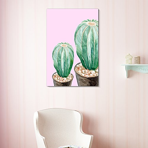 Succulent Plants Series Cactus in Pot on Pink Background