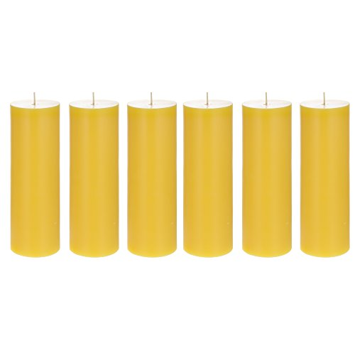 (Mega Candles 6 pcs Citronella Round Pillar Candle | Hand Poured Paraffin Wax Candles 3