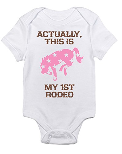 Equestrian Creations Baby GirlMy First Rodeo Horse Bodysuit (Newborn) for $<!--$19.95-->