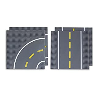 """Classic Baseplates 10"""" x 10"""" Building Brick Base Plate Toy Kit 