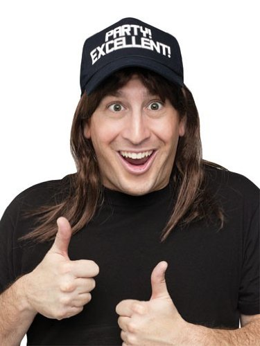 SNL WAYNE EXCELLENT WIG/HAT -