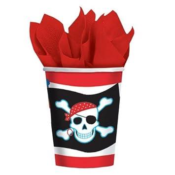 Pirate Party Piraten Dekorations Artikel 8 Becher - Tolle Deko ...